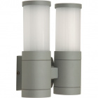 Wall Lamp GLADYS IP54 2xE27 L.17xW.9,5xH.21cm Metal+Glass Grey
