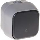 Botão de campainha BERT IP54 Cinza