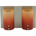 Wall Lamp IRENE 2xG9 L.23xW.11,5xH.15cm Orange/Yellow/Satin Nickel
