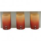 Wall Lamp IRENE 3xG9 L.35xW.11,5xH.15cm Orange/Yellow/Satin Nickel