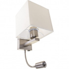 Wall Lamp MARGARIDA 1xE27+1x3W LED L.15xW.18xH.41cm Beije/Chrome