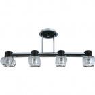 Ceiling Lamp LORENA 4xG9 L.70xW.15xH.29cm Wengue/Chrome