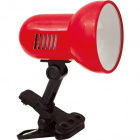 Table Lamp CLIP ORG with spring 1xE27 L.9xW.15xH.18cm Red