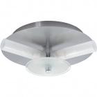 Plafond DINA round small 3xG9 H.8xD.21cm Satin Nickel