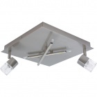 Plafond AFONSO square 2xG9+4x10WG4 (12V) L.30xW.30xH.11cm Satin Nickel