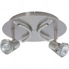 Plafond DANIEL round 2xGU10+4x10WG4 (12V) H.12xD.24cm Satin Nickel