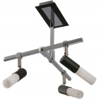 Ceiling Lamp BRUNO 3xGU10 L.27xW.30xH.31cm Wengue/Chrome