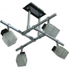 Ceiling Lamp DIOGO 4xG9 L.49xW.49xH.Reg.cm Wengue/Chrome