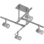 Ceiling Lamp AFONSO 4xG9 L.48xW.48xH.32cm Satin Nickel