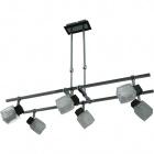 Ceiling Lamp DIOGO 6xG9 L.75xW.34xH.Reg.cm Wengue/Chrome