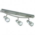 Wall Lamp TELMO 3xGU10 L.51xW.21xH.6cm Satin Nickel