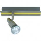 Wall Lamp GABRIEL 1xGU10 L.20xW.6xH.11cm Yellow/Satin Nickel