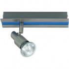 Wall Lamp GABRIEL 1xGU10 L.20xW.6xH.11cm Blue/Satin Nickel