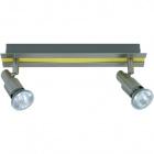 Wall Lamp GABRIEL 2xGU10 L.30xW.6xH.11cm Yellow/Satin Nickel