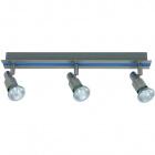 Wall Lamp GABRIEL 3xGU10 L.42xW.6xH.11cm Blue/Satin Nickel