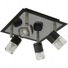 Plafond AFONSO square 4xG9 L.22xW.22xH.13cm Wengue/Chrome