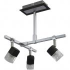 Ceiling Lamp AFONSO 3xG9 L.29xW.31xH.32cm Wengue/Chrome
