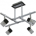 Ceiling Lamp AFONSO 4xG9 L.49xW.49xH.32cm Wengue/Chrome