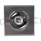 Downlight MAET square 1xGU10 L.9xW.9xH.0,4cm Satin Nickel