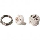 White G9 lampholder 3-pieces in porcelain