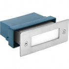 Recessed Wall Lamp BAVANI rectangular IP54 1x1,5W LED 16lm 6500K L.11xW.5,5xH.4,5cm Stainless Steel