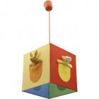 Pendant Light ZOO square 1xE27 L.25xW.25xH.Reg.cm Multicolors