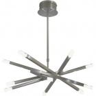 Ceiling Lamp DORA round 12xG4 12V H.Reg.xD.71cm Satin Nickel