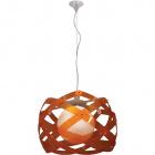 Pendant Light ACUARIO large 1xE27 H.Reg.xD.60cm Orange