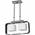 Ceiling Lamp IRINA rectangular 2xE27 L.45xW.13xH.Reg.cm Wengue/Chrome