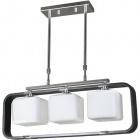 Ceiling Lamp IRINA rectangular 3xE27 L.65xW.13xH.Reg.cm Wengue/Chrome