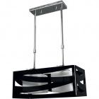 Ceiling Lamp CEPHEUS 2xE27 L.43xW.22xH.Reg.cm Acrylic Black