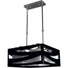 Ceiling Lamp CEPHEUS 4xE27 L.39xW.39xH.Reg.cm Acrylic Black