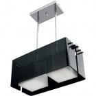Ceiling Lamp ROBERTA square 2xE27 L.46xW.20xH.Reg.cm Acrylic Black/Chrome