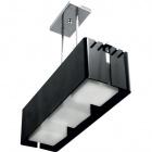 Ceiling Lamp ROBERTA square 3xE27 L.65,5xW.20xH.Reg.cm Acrylic Black/Chrome
