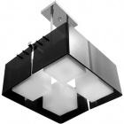 Ceiling Lamp ROBERTA square 4xE27 L.41xW.41xH.Reg.cm Acrylic Black/Chrome
