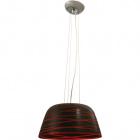Pendant Light LURDES 1xE27 H.Reg.xD.37cm Red/Black