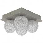 Plafond PARM 4xG4 12V L.20xW.20xH.11cm Satin Nickel