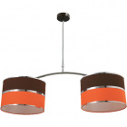 Ceiling Lamp OLGA 2xE27 L.85xW.30xH.Reg.cm Orange/Brown