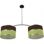 Ceiling Lamp OLGA 2xE27 L.85xW.30xH.Reg.cm Green/Brown