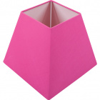 Lampshade IRLANDES square prism small with fitting E27 L.17xW.17xH.14cm Pink
