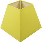 Lampshade IRLANDES square prism small with fitting E27 L.17xW.17xH.14cm Green
