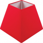 Lampshade IRLANDES square prism small with fitting E27 L.17xW.17xH.14cm Red