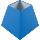 Lampshade IRLANDES square prism large with fitting E27 L.22xW.22xH.18,5cm Blue
