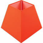 Lampshade IRLANDES square prism large with fitting E27 L.22xW.22xH.18,5cm Orange