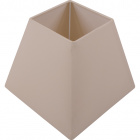 Lampshade IRLANDES square prism large with fitting E27 L.22xW.22xH.18,5cm Ivory