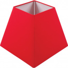 Lampshade IRLANDES square prism large with fitting E27 L.22xW.22xH.18,5cm Red