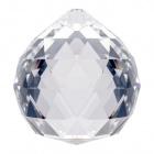 Crystal end stone D.3cm transparent (Box)