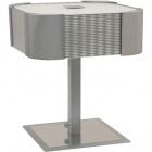 Table Lamp LIZETE square 2xE27 L.26xW.26xH.30cm Grey/Chrome