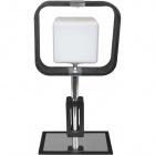 Table Lamp IRINA square 1xE27 L.25xW.14xH.50cm Wengue/Chrome