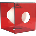 Table Lamp RITA 1xE14 L.19,5xW.22xH.22cm Red